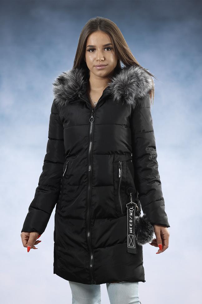 Ženska zimska jakna - Sportska i Casual - 006 - Crna 1