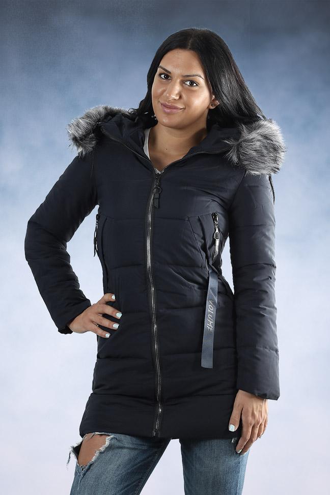 Ženska zimska jakna - Sportska i Casual - 007-2 - Teget