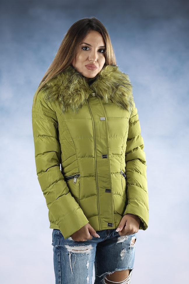 Ženska zimska jakna - Sportska i Casual - 4719 - Zelena
