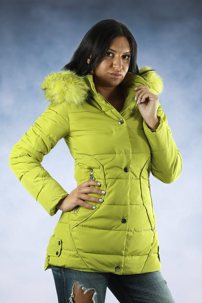 Ženska zimska jakna - Sportska i Casual - 4744 - Zelena