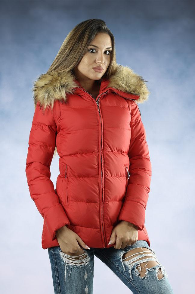 Ženska zimska jakna - Sportska i Casual - MF M02 - Crvena