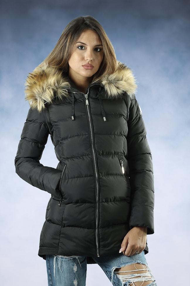 Ženska zimska jakna - Sportska i Casual - MF M15A - Crna