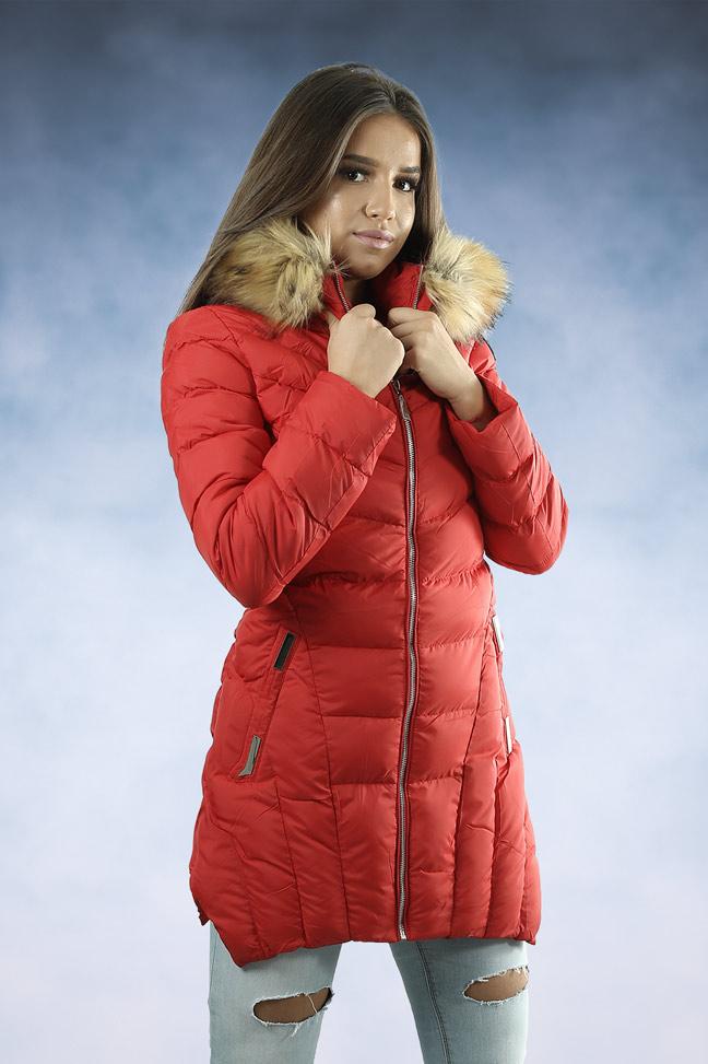 Ženska zimska jakna - Sportska i Casual - MF M18 - Crvena