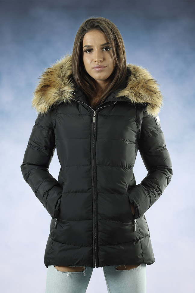 Ženska zimska jakna - Sportska i Casual - MF M02 - Crna