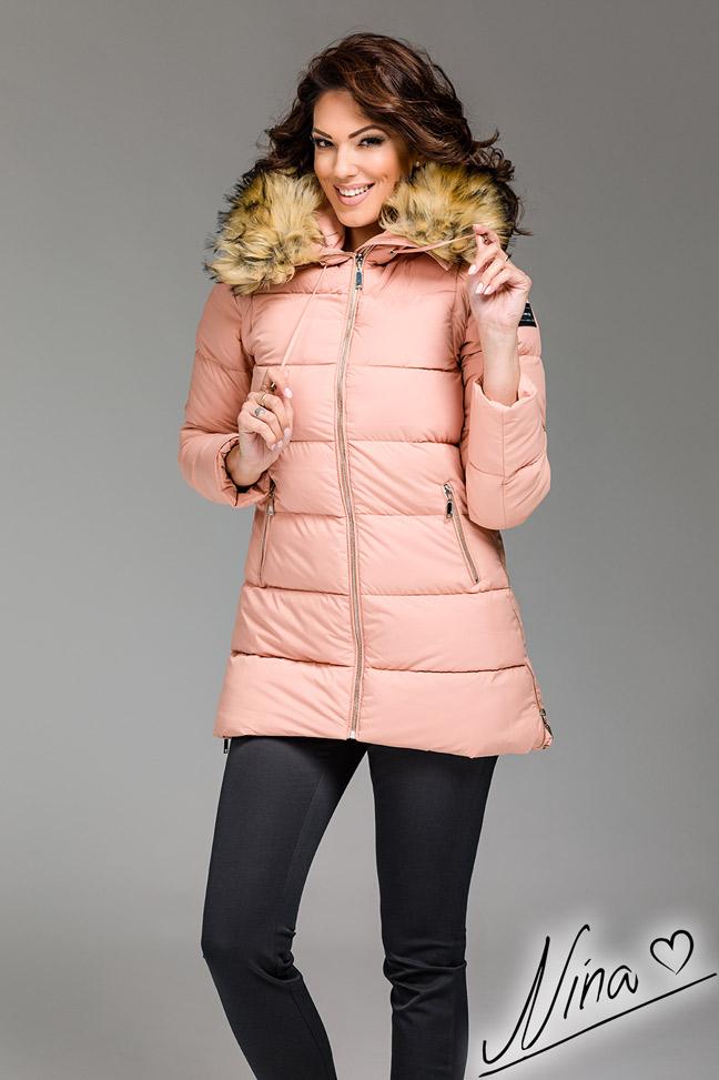 Ženska zimska jakna - Sportska i Casual - MF M05- Puder roze