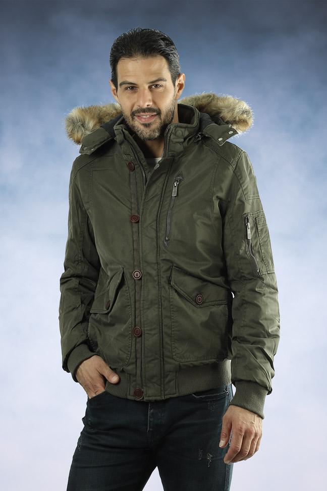 Muška zimska bomber jakna - 4319 - Maslinasto zelena
