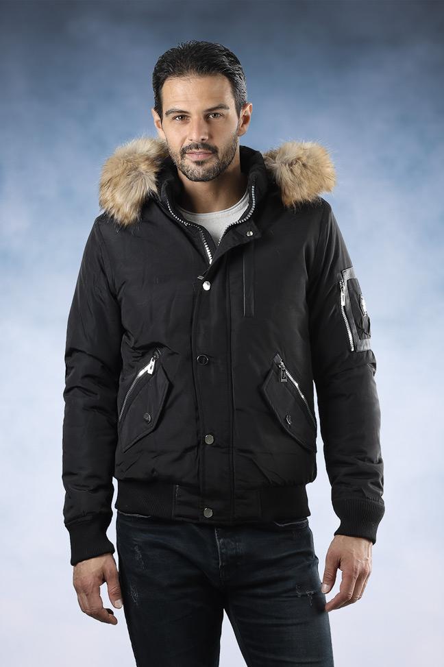 Muška zimska bomber jakna - 88661 - Crna