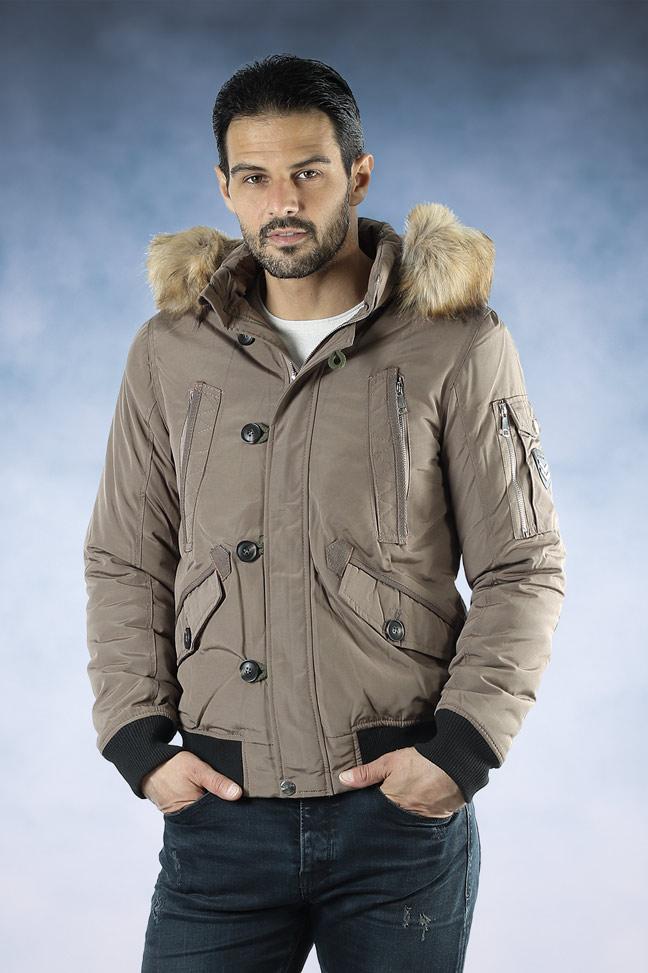 Muška zimska bomber jakna - 88662 - Krem