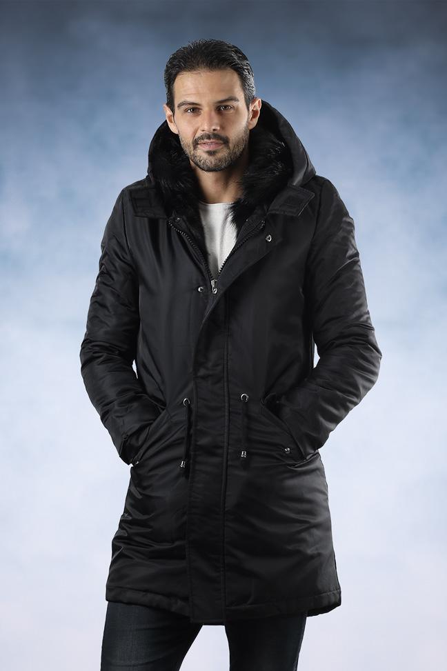 Muška zimska jakna - Parka - Lenasso 17-K5123 - Crna