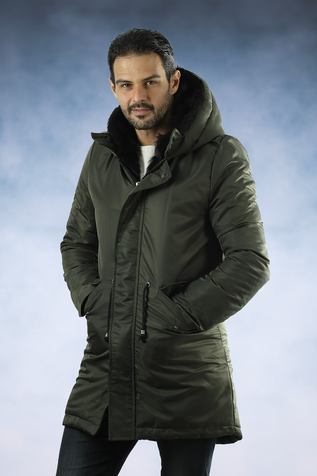 Muška zimska jakna - Parka - Lenasso 17-K5123 - Maslinasto Zelena