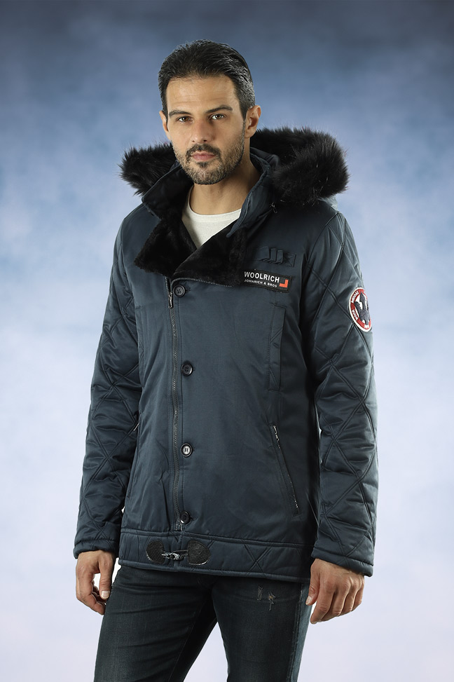 Muška zimska jakna - Sportska i Casual - 1108 - Indigo