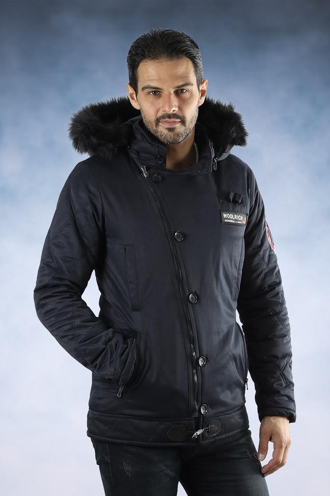 Muška zimska jakna - Sportska i Casual - 1108 - Teget