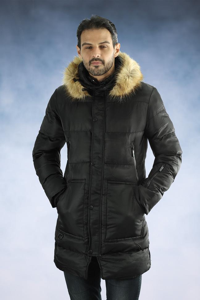Muška zimska jakna - Sportska i Casual - 33182 - Crna