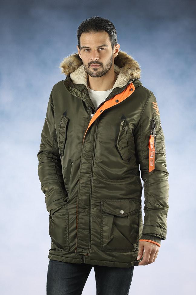 Muška zimska jakna - Sportska i Casual - 4315 - Maslinasto zelena