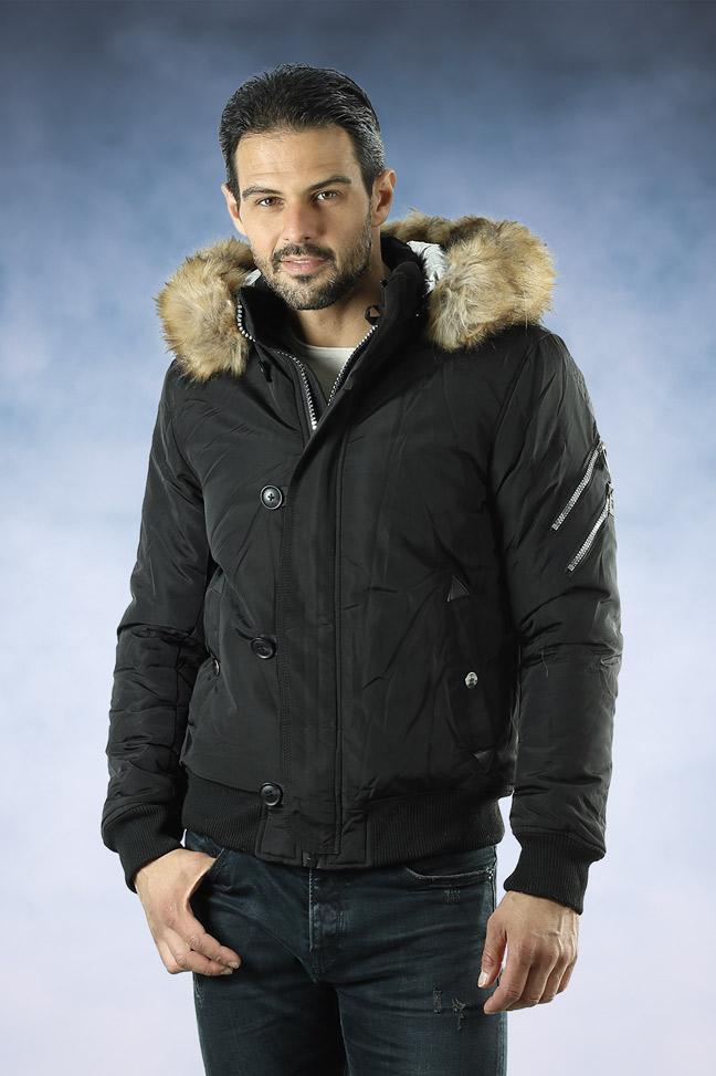 Muška zimska jakna - Sportska i Casual - 88658 - Crna