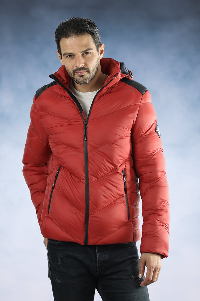 Muška zimska jakna - Sportska i Casual - FST AB100 - Crvena