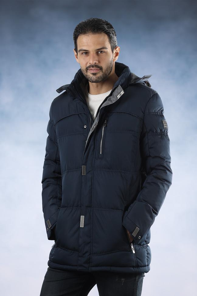 Muška zimska jakna - Sportska i Casual - FST AB101 - Teget