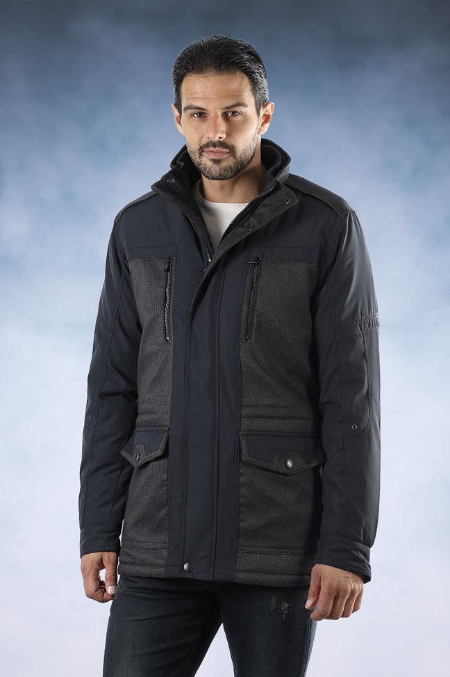 Muška zimska jakna - Sportska i Casual - FST K83 - Teget