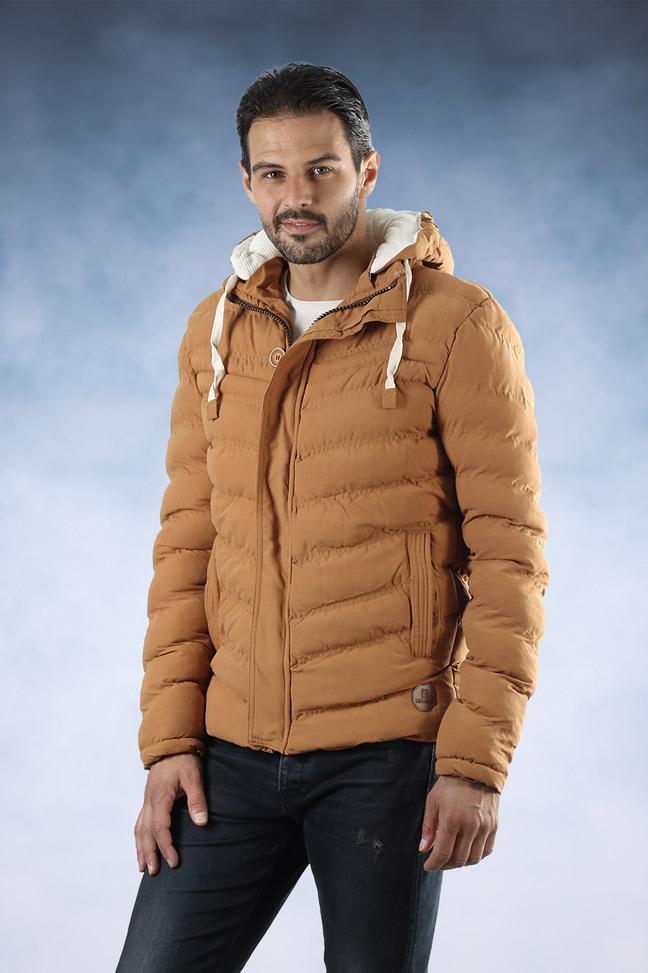 Muška zimska jakna - Sportska i Casual - Lenasso 16-K5071 - Oker