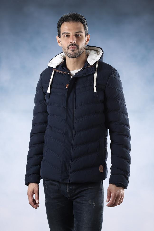Muška zimska jakna - Sportska i Casual - Lenasso 16-K5071 - Teget