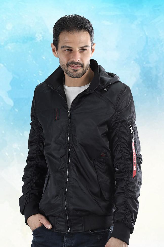 Muška zimska bomber jakna - 5100 - Crna