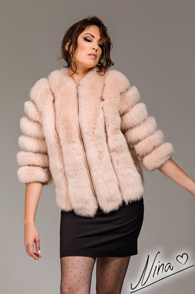 Bunda Ivon - Puder roze 1