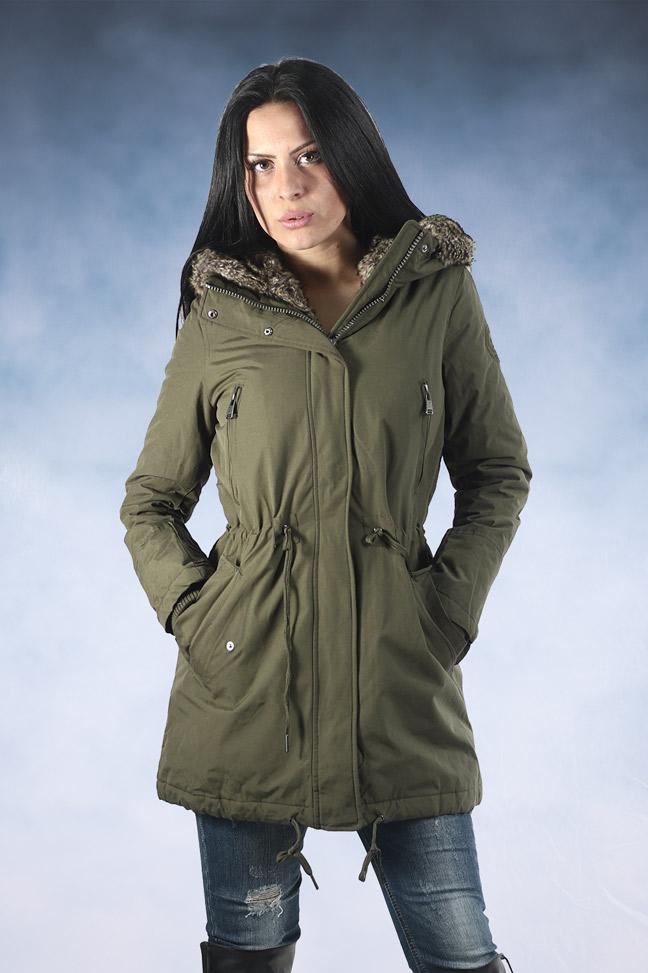 Ženska zimska jakna - Parka - STAFF Lady - Maslinasto zelena
