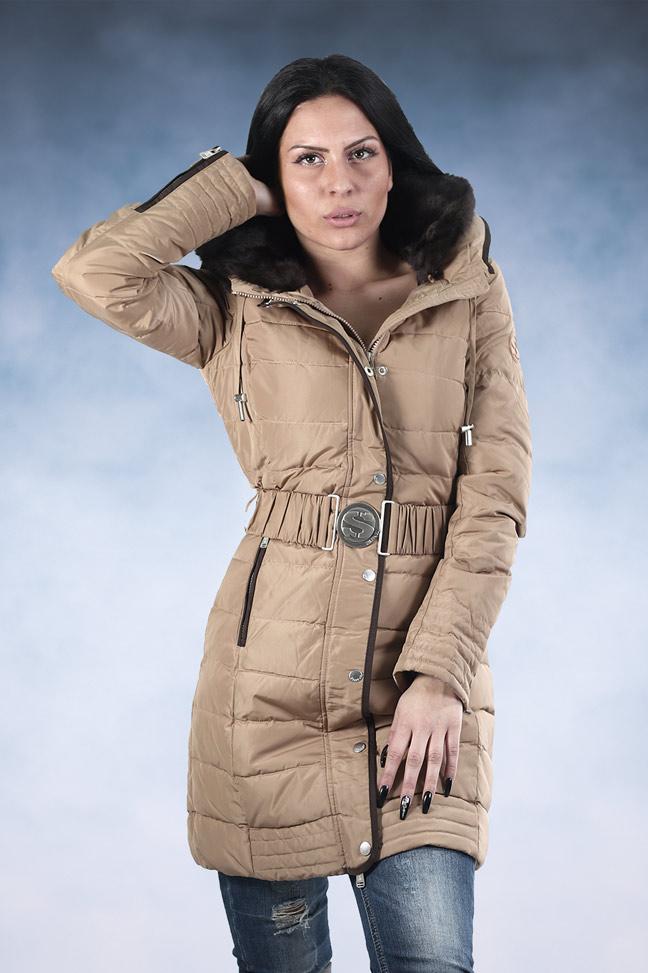Ženska zimska jakna - Sportska i Casual - STAFF Klara - Krem
