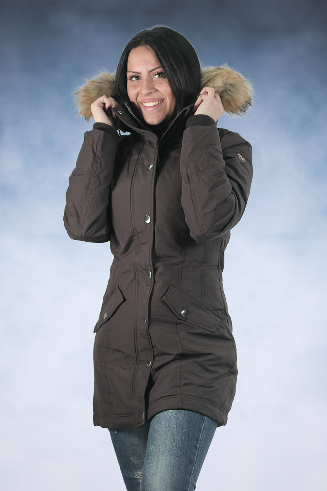 Ženska zimska jakna - Sportske i Casual - STAFF Sammy - Braon