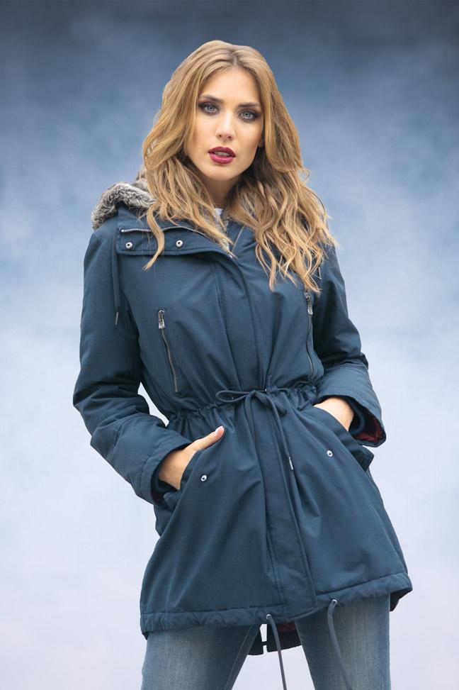 Ženska zimska jakna - Parka - Staff Lady - Teget