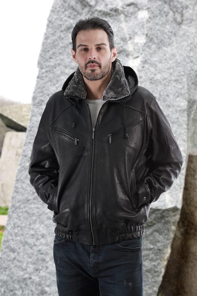 Muška kožna jakna – Bokserica - Marciano TK – Crna
