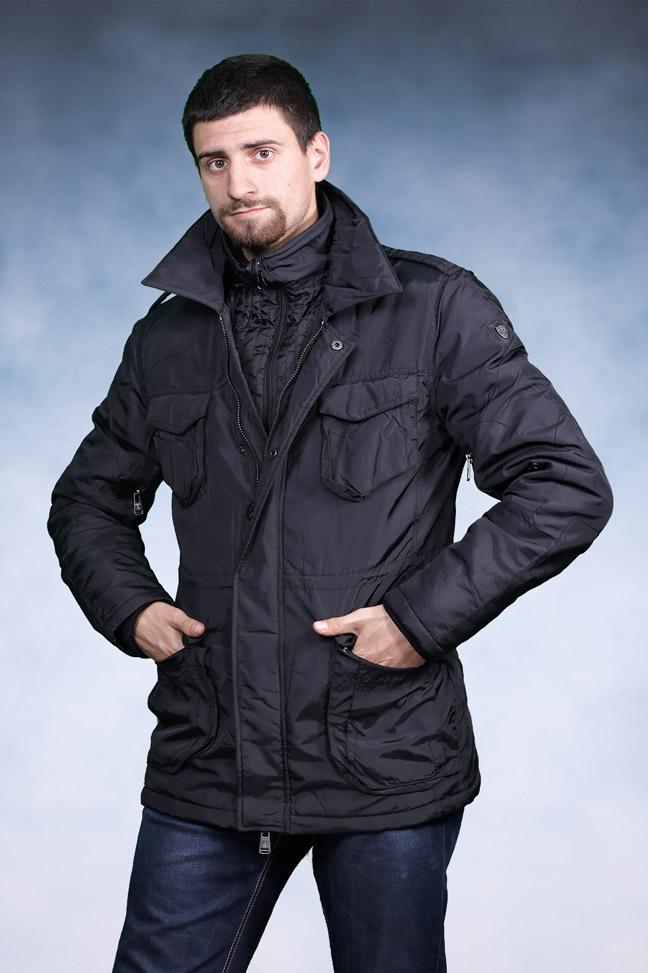 Muška zimska jakna - Parka - Staff Fabio - Crna