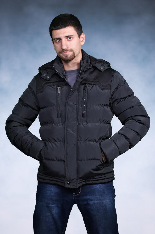 Muška zimska jakna - Sportska i Casual - 3507 - Crna