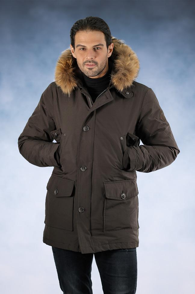 Muška zimska jakna - Sportska i Casual - Staff Aldo - Braon