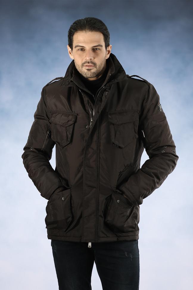Muška zimska jakna - Parka - Staff Fabio - Braon