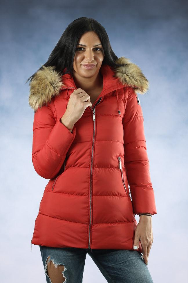 Ženska zimska jakna - Sportska i Casual - MF M05 - Crvena