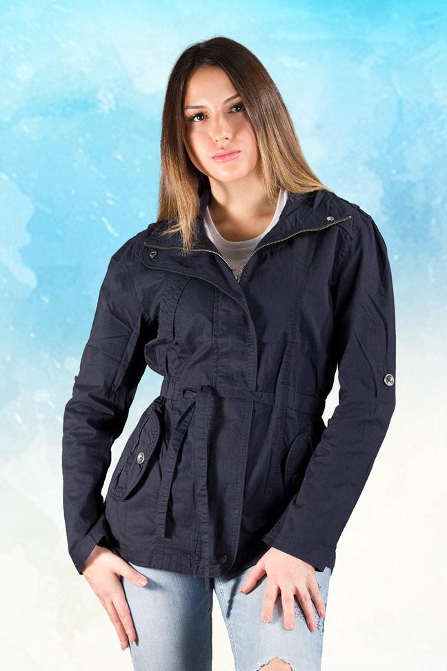 Ženska prolećna jakna - Parka - Staff Gema - Teget