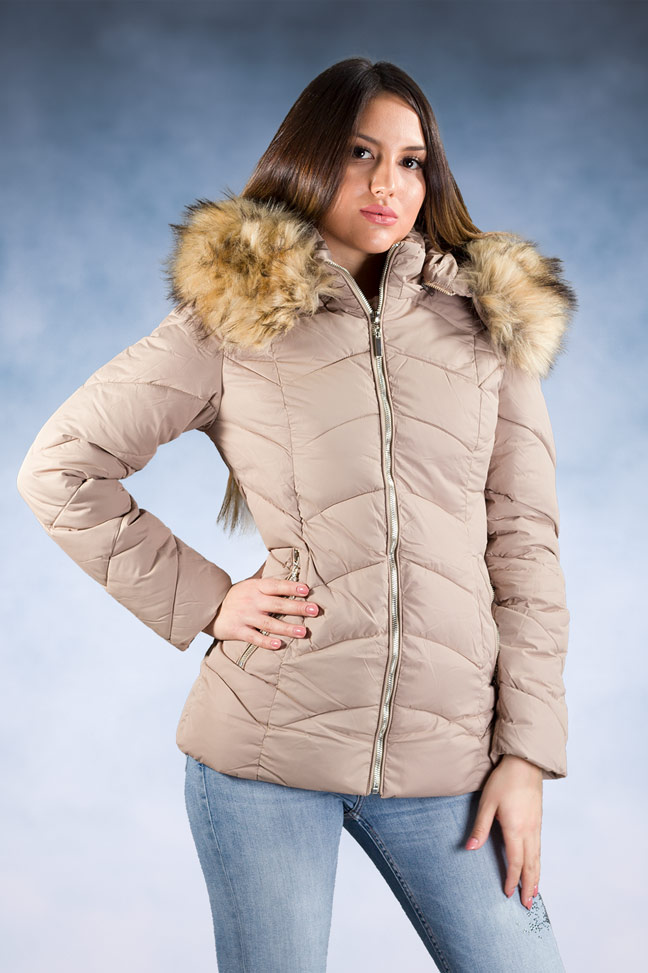 Ženska zimska jakna – Sportska i Casual – 1801 – Bež