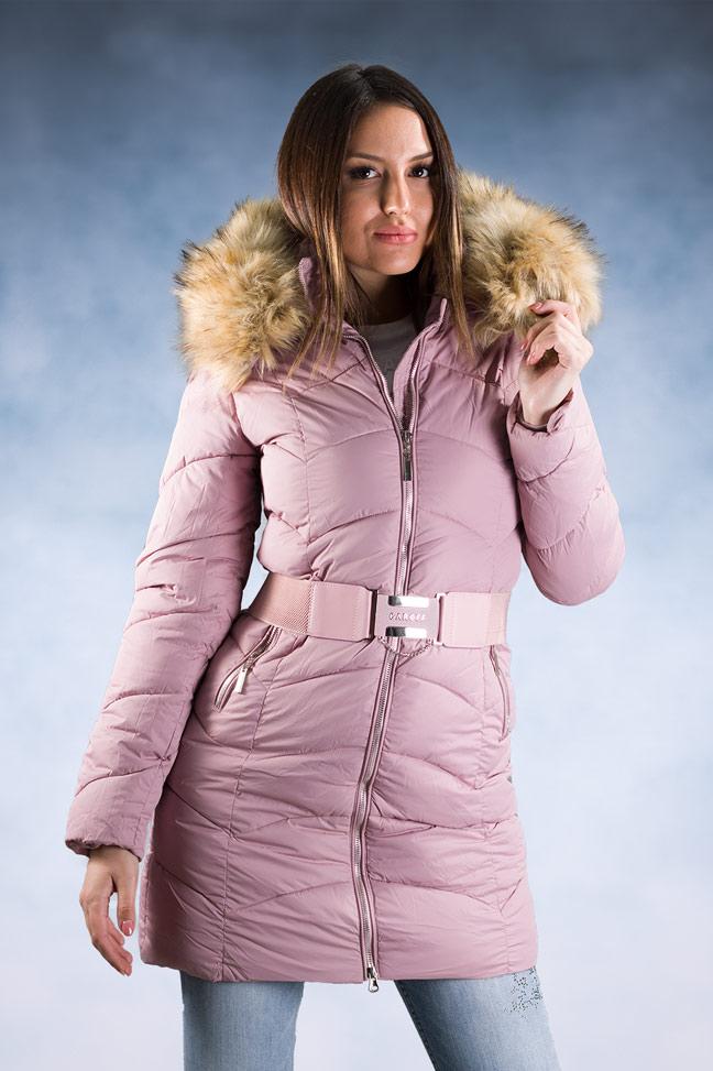 Ženska zimska jakna – Sportska i Casual – 1802 – Roze