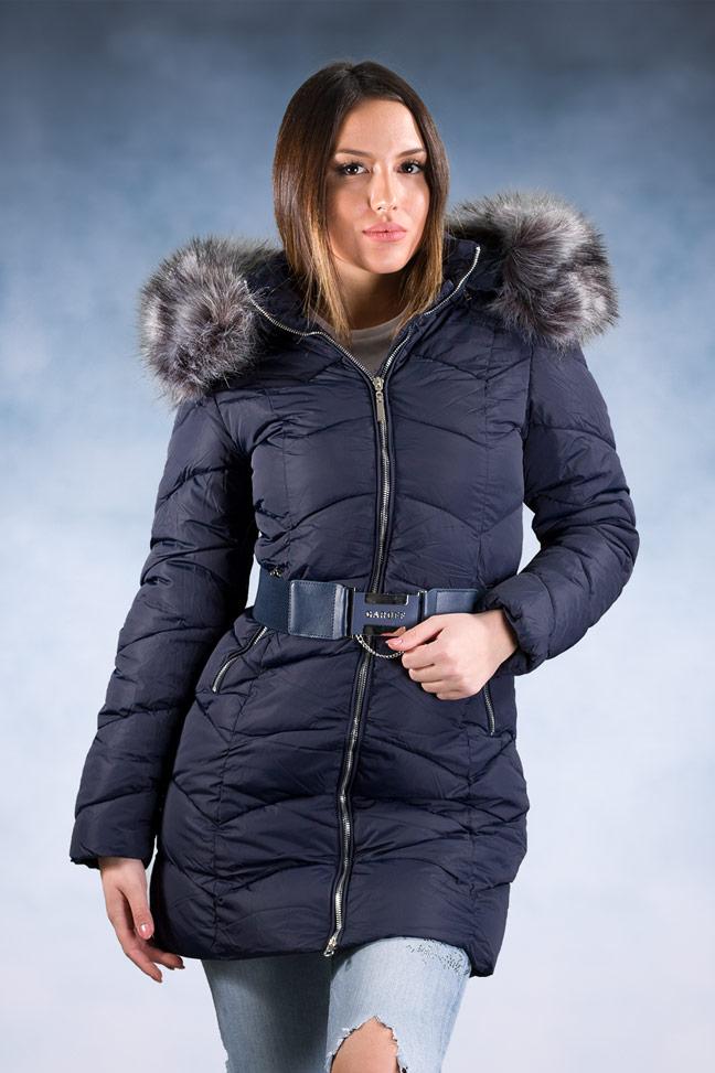 Ženska zimska jakna – Sportska i Casual – 1802 – Teget