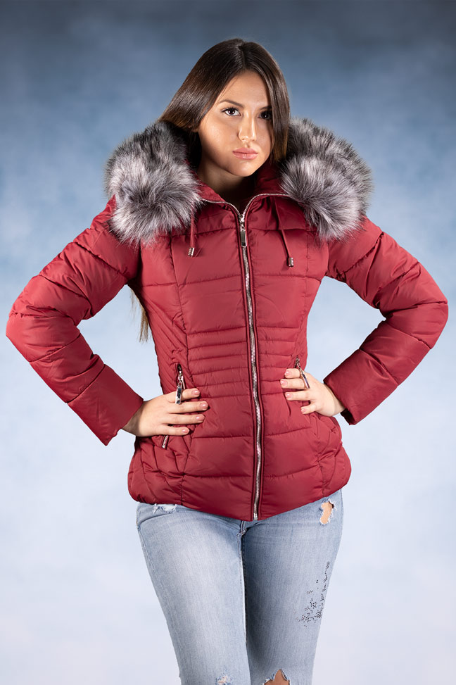 Ženska zimska jakna – Sportska i Casual – 1858 – Bordo