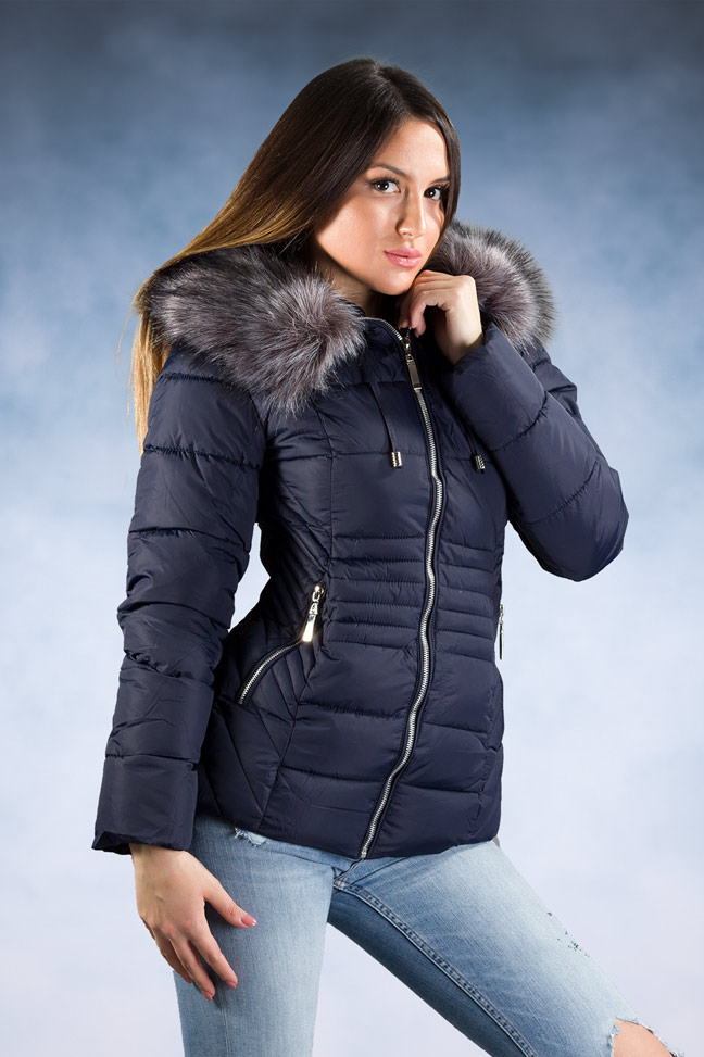 Ženska zimska jakna – Sportska i Casual – 1858 – Teget