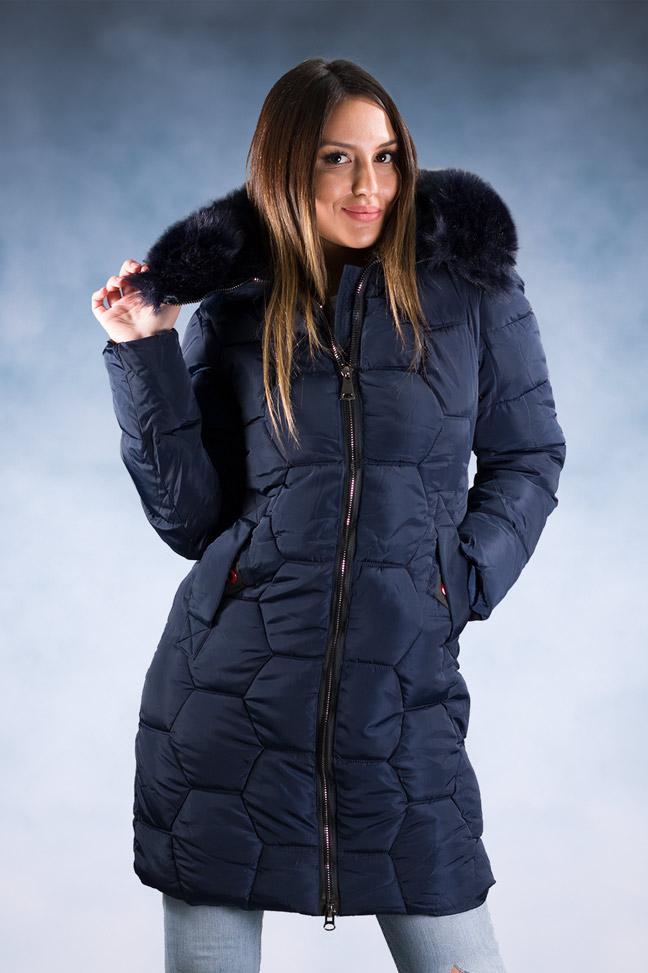 Ženska zimska jakna – Sportska i Casual – 8823 – Teget