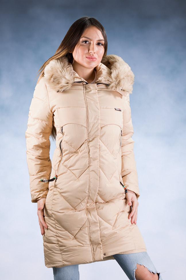 Ženska zimska jakna – Sportska i Casual – 8826 – Bež