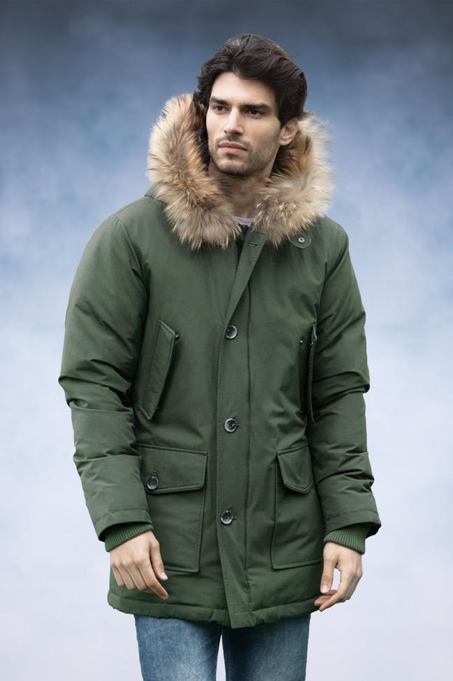 Muška zimska jakna - Sportska i Casual - Staff Aldo - Zelena
