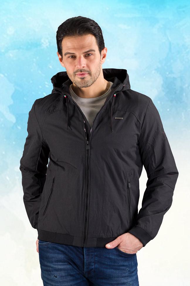 Muška prolećna jakna - Sportska i Casual - Invento Alvin - Crna