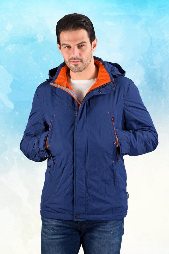 Muška prolećna jakna - Sportska i Casual - 18203 - Plava