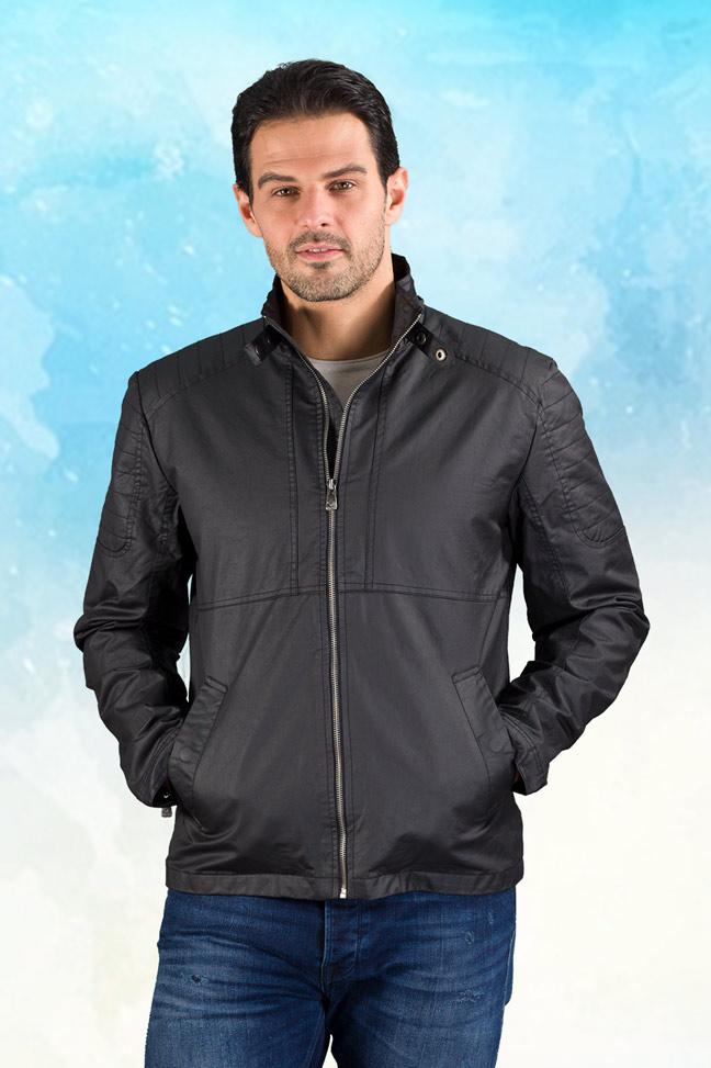 Muška prolećna jakna - Sportska i Casual - Invento Braun - Crna