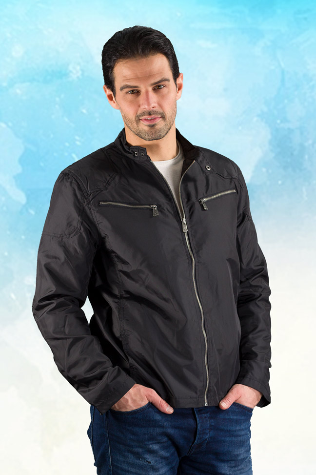Muška prolećna jakna - Sportska i Casual - Invento Edan - Crna