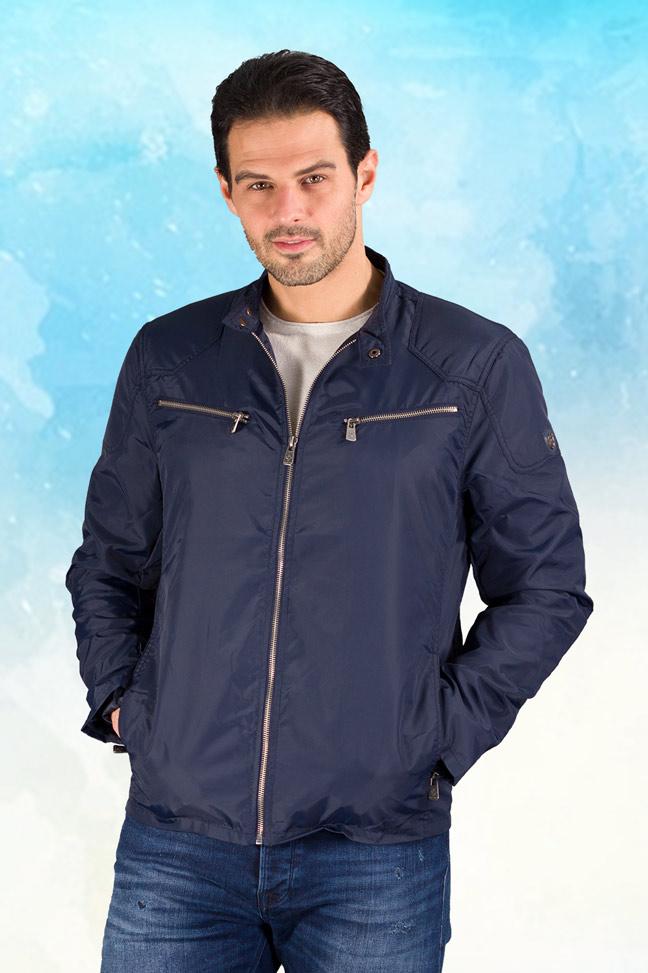 Muška prolećna jakna - Sportska i Casual - Invento Edan - Plava